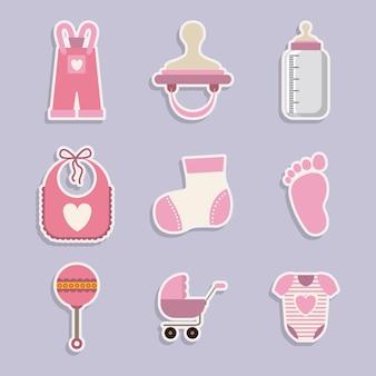 Conception numérique de douche de bébé
