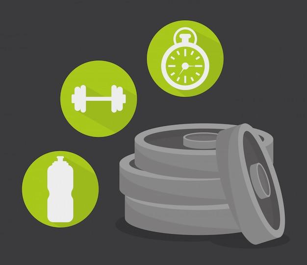 Conception numérique de gym.