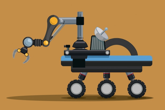 Conception numérique de robot.