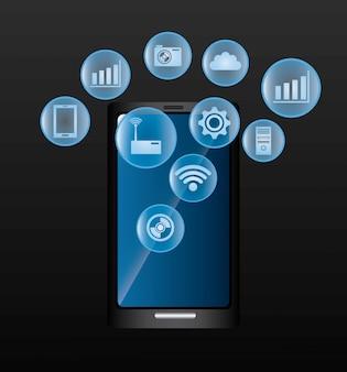 Conception numérique de la technologie.