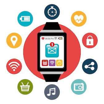 Conception numérique wearable technology.
