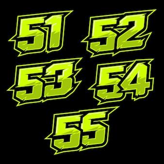 Conception de numéro de course