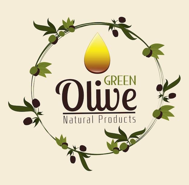 Conception des olives, illustration vectorielle.