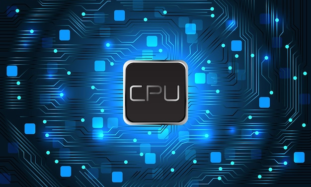 Conception d'ordinateur de carte mère bleue abstraite illustration vectorielle de fond de technologie futuriste moderne.
