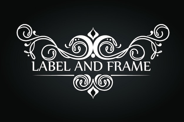 Conception d'ornement pour logo de luxe
