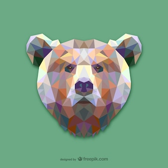 Conception d'ours de triangle
