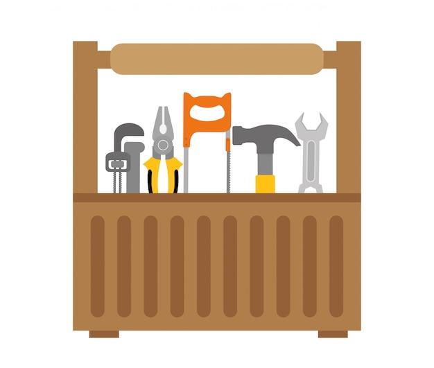 Conception d'outils. icône de cages à oiseaux. objet de décoration. concept vintage, graphique vectoriel