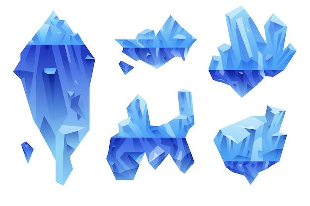Conception de pack d'icebergs