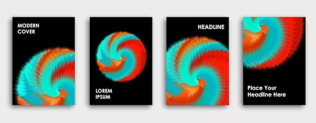 Conception de page de couverture de livre coloré abstrait explosion de peinture