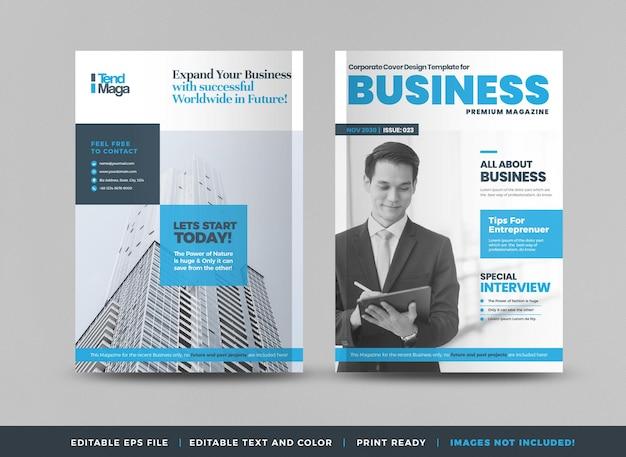 Conception de page de couverture de magazine d'affaires