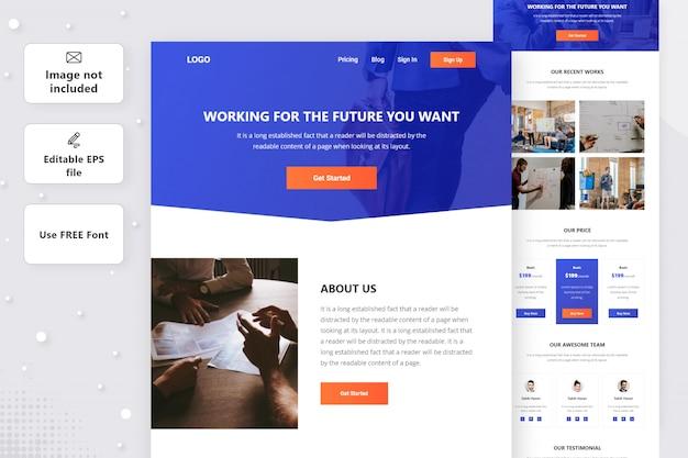 Conception de la page de destination de l'agence numérique