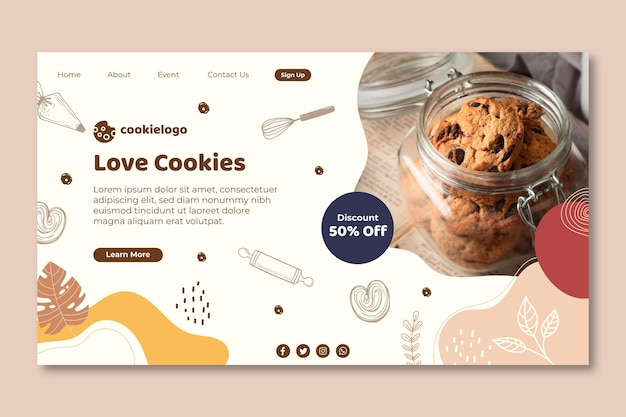 Conception de la page de destination des cookies