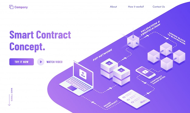 Conception d'une page de destination digital smart contract