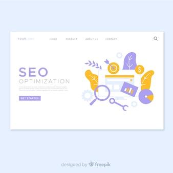 Conception de page de destination d'optimisation seo