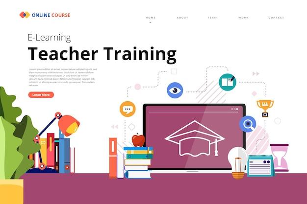 Conception de page de destination site web éducation cours en ligne enseigner la formation