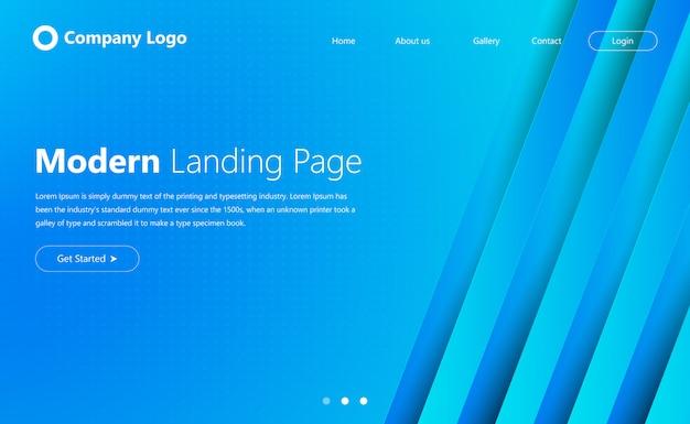 Conception de page de destination de site web moderne