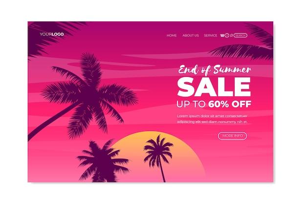 Conception de la page de destination des soldes d'été de fin de saison