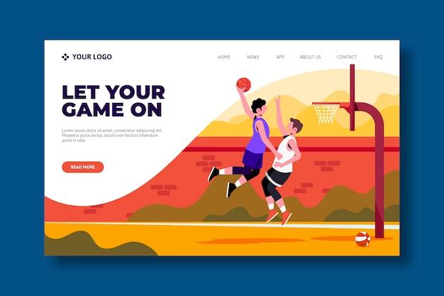 Conception de page de destination de sport en plein air