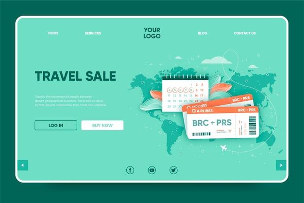 Conception de page de destination de vente de voyage