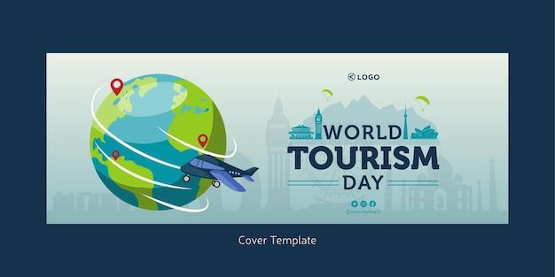 Conception de la page de garde de la journée mondiale du tourisme