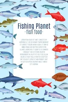 Conception de page avec des poissons.