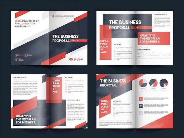 Conception de pages de couverture de brochure d'entreprise.