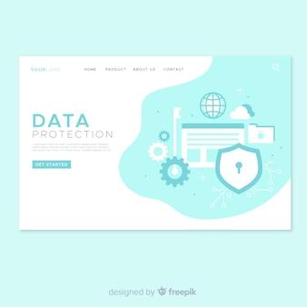 Conception de pages de destination sur la protection des données