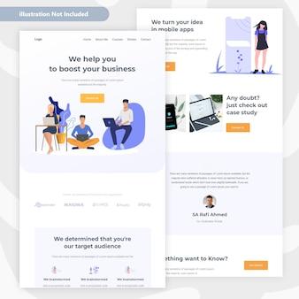 Conception de pages web commerciales et financières