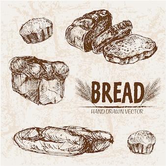Conception de pain dessinée à la main