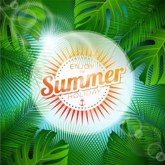 Conception de palmier de fond d'été