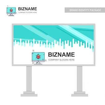 Conception de panneau d'affichage d'entreprise avec vecteur de conception créative
