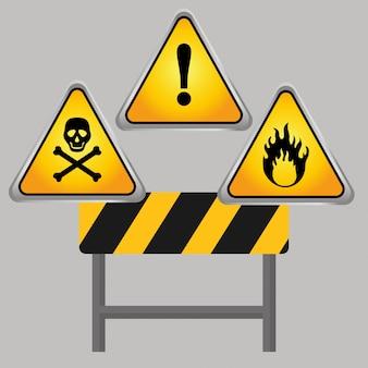 Conception de panneau d'avertissement