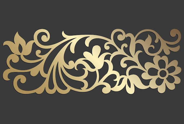 Conception de panneaux découpés au laser. modèle de bordure de vecteur vintage orné pour la découpe laser, les vitraux, la gravure sur verre, le sablage, la sculpture sur bois, la fabrication de cartes, les invitations de mariage.
