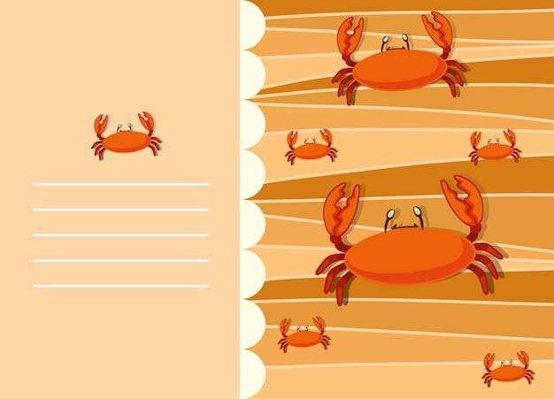 Conception de papier avec des crabes