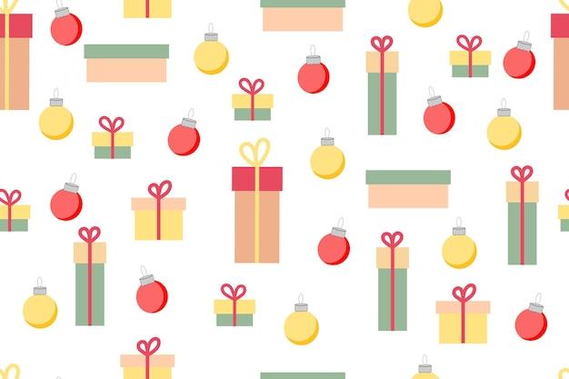 Conception de papier d'emballage de modèle sans couture de boîtes-cadeaux pour des cadeaux de noël et de nouvel an