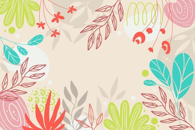 Conception de papier peint floral beau et créatif