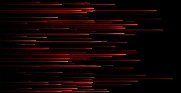 Conception de papier peint de lignes de mouvement rouges dynamiques