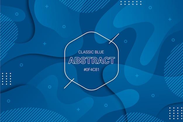 Conception de papier peint moderne classique bleu abstrait