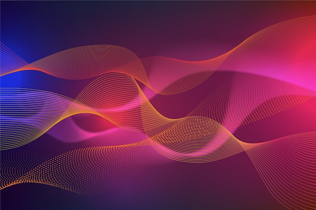Conception de papier peint ondulé