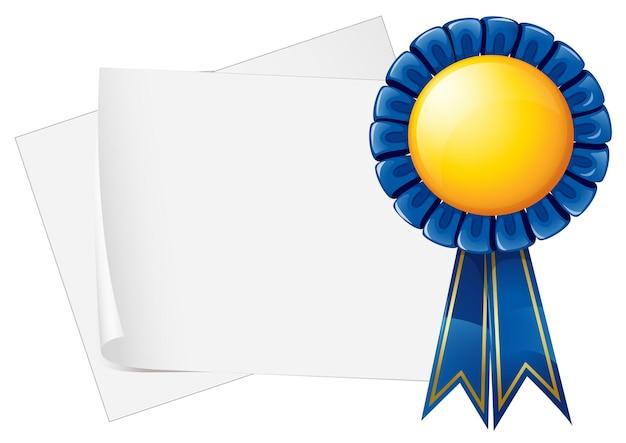 Conception de papier avec ruban bleu