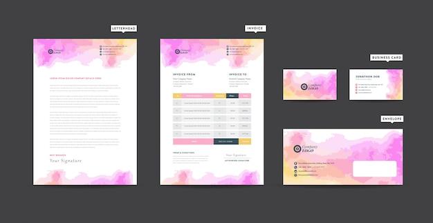 Conception de papier à en-tête d'entreprise   identité d'entreprise   image de marque d'entreprise