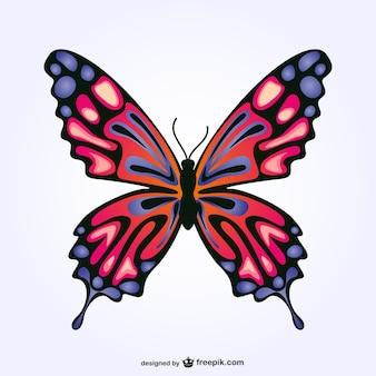 Conception de papillon vecteur libre