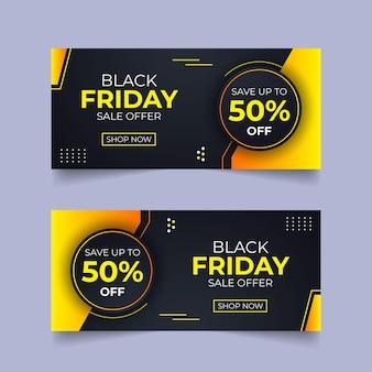Conception de paquet de black friday conception de modèle de vecteur de black friday conception de modèle de publication de médias sociaux