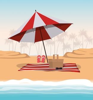 Conception de parapluie d'été et de vacances