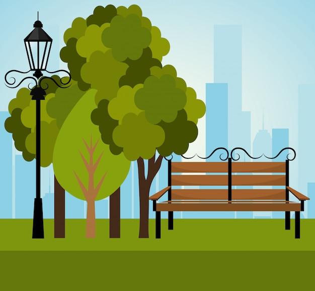 Conception de parc urbain.