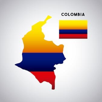 Conception de pays de colombie