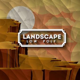 Conception de paysage désertique
