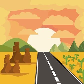 Conception de paysage routier