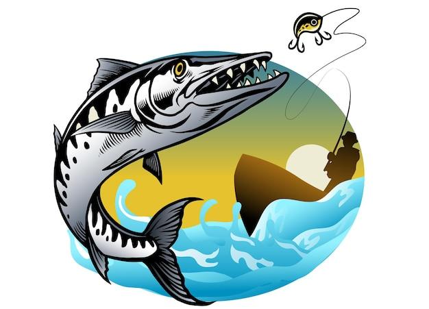 Conception de la pêche au barracuda