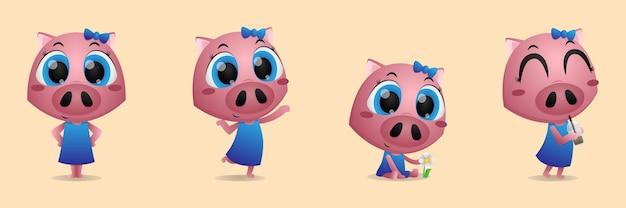 Conception de personnage animal mignon
